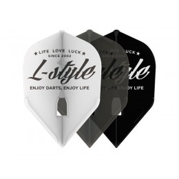 6 Stück L-Style Champagne Ring schwarz